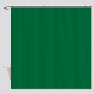 Dark Spring Green Solid Color Shower Curtain