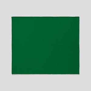 Dark Spring Green Solid Color Throw Blanket