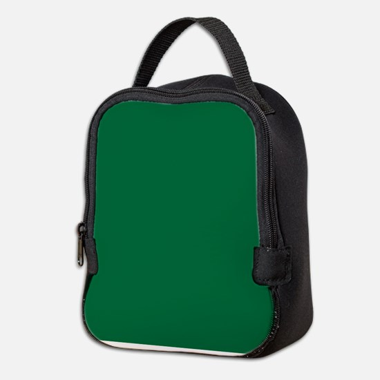 Dark Spring Green Solid Color Neoprene Lunch Bag