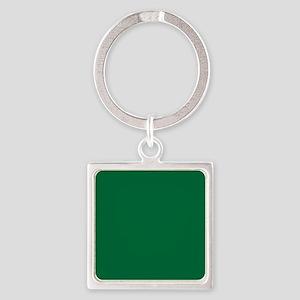 Dark Spring Green Solid Color Keychains