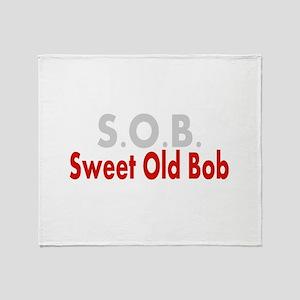 SOB Sweet Old Bob Throw Blanket