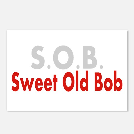 SOB Sweet Old Bob Postcards (Package of 8)