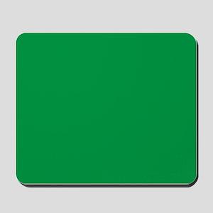 Shamrock Green Solid Color Mousepad