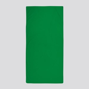 Shamrock Green Solid Color Beach Towel
