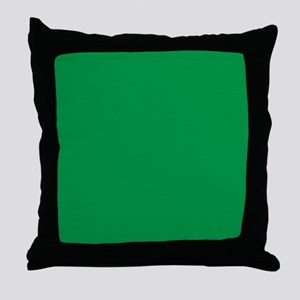 Shamrock Green Solid Color Throw Pillow