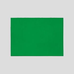 Shamrock Green Solid Color 5'x7'Area Rug