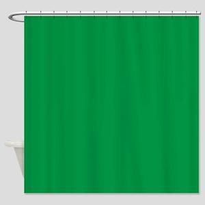 Shamrock Green Solid Color Shower Curtain