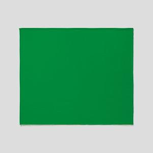 Shamrock Green Solid Color Throw Blanket
