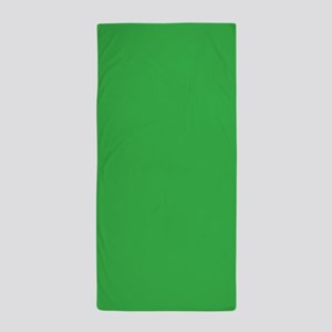 Green Solid Color Beach Towel