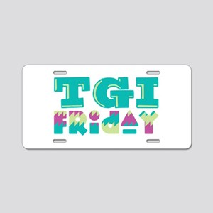TGI Friday Aluminum License Plate