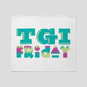 TGI Friday Throw Blanket