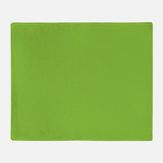 Spring Green Solid Color Throw Blanket