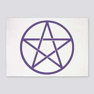 Purple Pentagram 5'x7'Area Rug