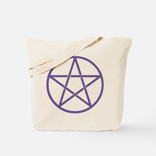 Purple Pentagram Tote Bag