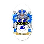 Gheorghie Oval Car Magnet