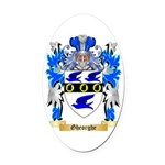 Gheorghe Oval Car Magnet