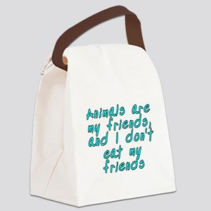 Animals are my friends - Canvas Lunch Bag