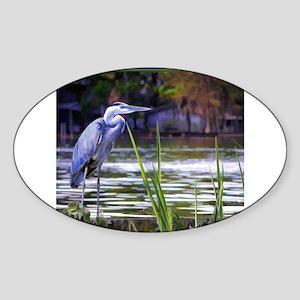 Blue Heron Sketch Sticker