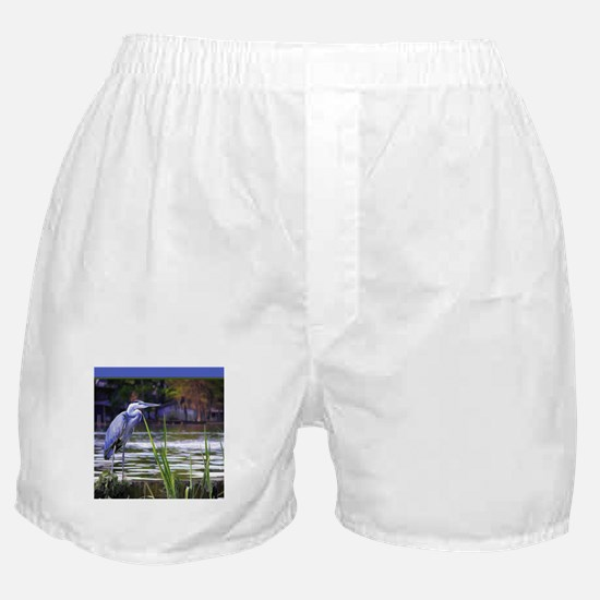 Blue Heron Sketch Boxer Shorts