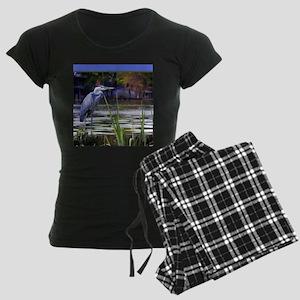Blue Heron Sketch Women's Dark Pajamas