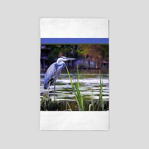 Blue Heron Sketch 3'x5' Area Rug