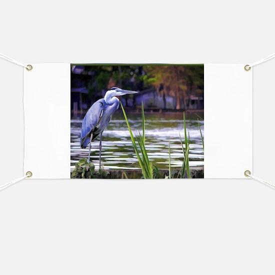 Blue Heron Sketch Banner
