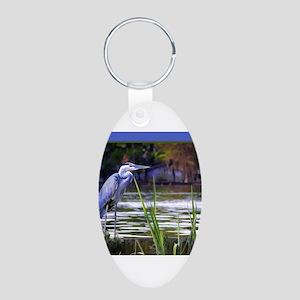 Blue Heron Sketch Keychains