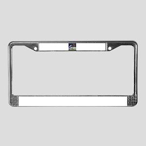 Blue Heron Sketch License Plate Frame