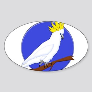 Yellow Crested Tropical Cockatoo Sticker
