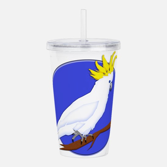 Yellow Crested Tropica Acrylic Double-wall Tumbler
