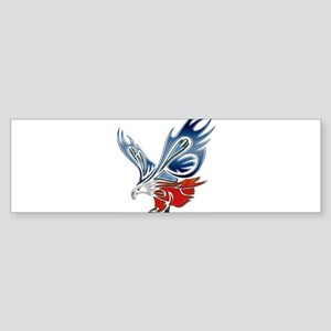 Metallic Grunge Eagle Tattoo Bumper Sticker