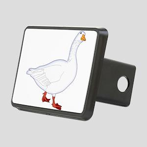 White Goose Rectangular Hitch Cover