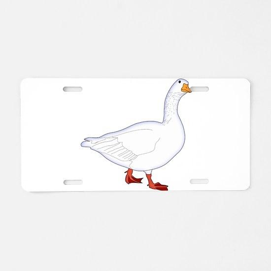 White Goose Aluminum License Plate