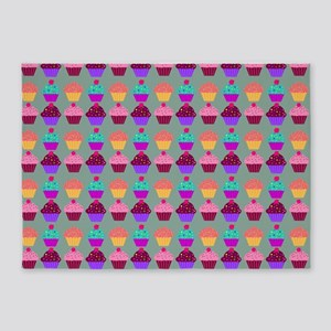 Yummy Sweet Cupcake Pattern 5'x7'Area Rug