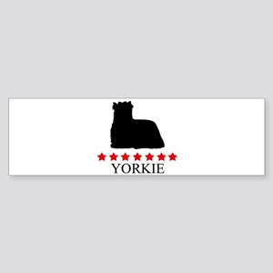 Yorkie (red stars) Bumper Sticker