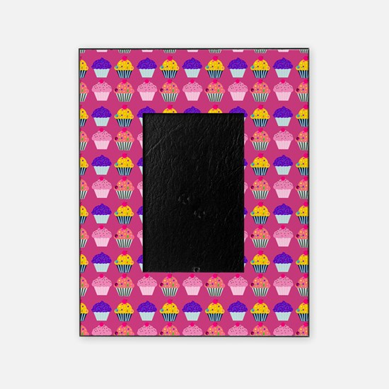 Yummy Sweet Cupcake Pattern Picture Frame