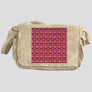 Yummy Sweet Cupcake Pattern Messenger Bag