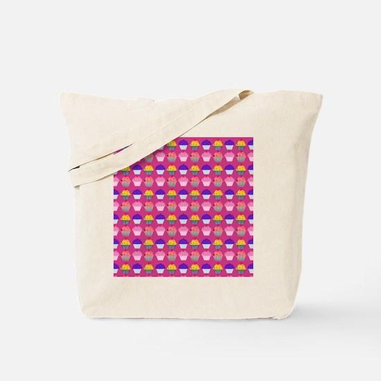 Yummy Sweet Cupcake Pattern Tote Bag