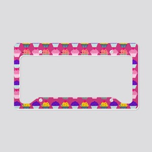Yummy Sweet Cupcake Pattern License Plate Holder