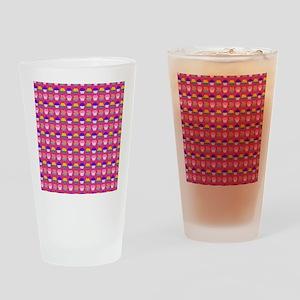 Yummy Sweet Cupcake Pattern Drinking Glass