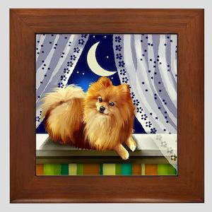 Pomeranian Dog Window Framed Tile