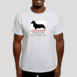 Wirehair Dachshund (red stars Light T-Shirt