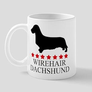 Wirehair Dachshund (red stars Mug