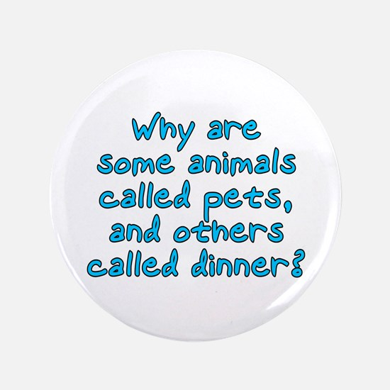 """Pets or dinner? 3.5"""" Button"""
