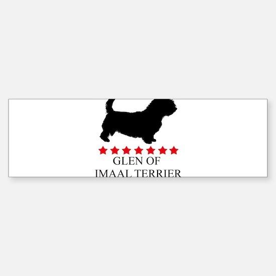 Glen Of Imaal Terrier (red st Bumper Bumper Bumper Sticker