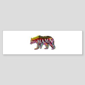 colorful mama bear Bumper Sticker