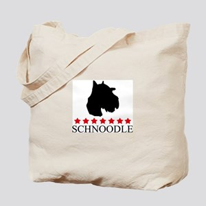 Schnoodle (red stars) Tote Bag