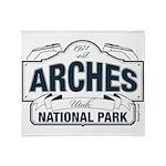 Arches National Park V. Blue Throw Blanket