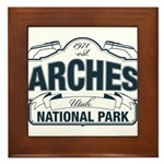 Arches National Park V. Blue Framed Tile