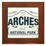 Arches National Park V. Blue Framed Tile